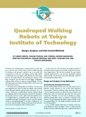 Quadruped Walking Robots at Tokyo Institute of Technology