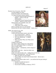 Lecture 8 notes, Women in Realism and Impressionism