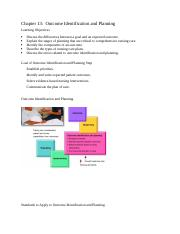 Chapter 13 Outcome Identification and Planning.docx