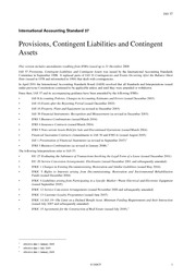 ias37 provisions, contingent liabilities and assets