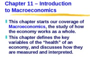 ECN 203 (11), Introduction to Macroeconomics