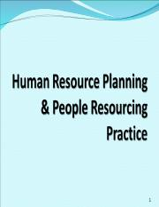 Session 6 Function & Role of HR Planning.ppt