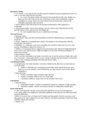 Psych 363 Notes on Descriptive Studies and Examples