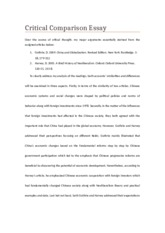 China and globalization essay