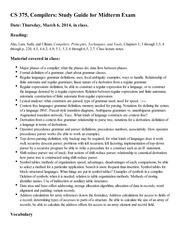 CS 375, Compilers_ Study Guide for Midterm Exam