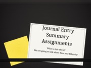 Journal Entry Summary Assignments PowerPoint-1(1)