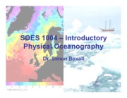 Introductory to Physical Oceanography