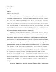 REFLECTION ON FOCUS ESSAYS	.docx