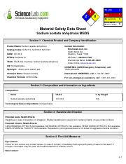 msds CH3COONa