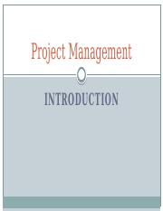 01-PMC-Project Management Introduction
