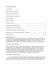 Business Research and Writing