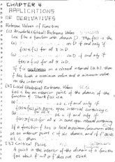 Calc Chapter 4 Class Notes