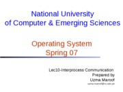 Lec10-Interprocess Communication
