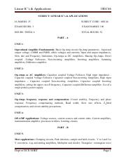 ECE-IV-LINEAR ICS & APPLICATIONS [10EC46]-NOTES