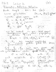 Lecture Notes B on Electricity and Magnetism