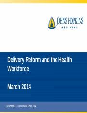 Lec 11_Delivery Reform and Health Workforce