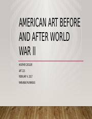 American Art Before and After World War II Heather Ziegler.pptx