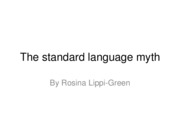 The standard language myth