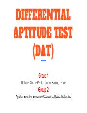 lbypsa1 dat report differential aptitude test dat group 1 bolanos rh coursehero com Manual Differential Aptitude Test Junior Aptitude Test Manual
