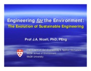 Engineering for the enviroment