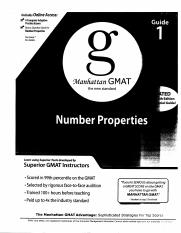 Manhattan GMAT Number Properties 4th edition - Guide 1