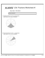 LO2 Fractions Worksheet #1