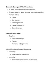 Careers in Gaming and Allied Areas Notes