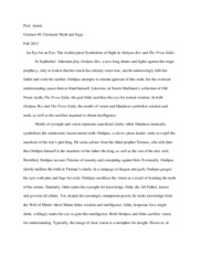 Essay on Prose Edda