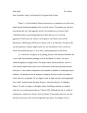 art appreciation picasso final essay pablo picasso art  5 pages art history research paper