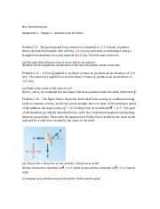 phys 204 - Asg 5 - Newtons laws of motion -  serway 8
