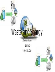 Waste and Energy