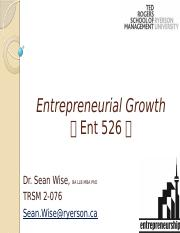ENT526 Entpreneurial Growth  Good to Great and Blue Ocean Strategy(1)