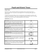 lecture fault and event trees 2012