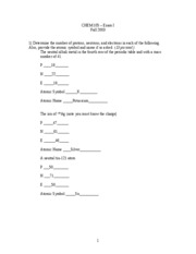 Practice Exam I Fall 2004 -- ANSWERS updated