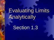 1-3 Evaluating Limits Analytically