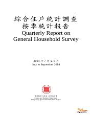 Quarterly Report on General Household Survey (on Labor Market)