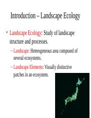 Notes BIO 340 Spatial Ecology- Sp16.ppt