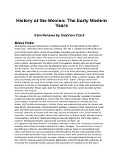 History at the Movies: The Early Modern Years