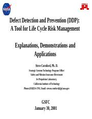 Defect detection and prevention
