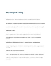 HS 108 (Psychological Testing)