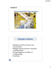 Discounted Cash Flow Valuation Notes