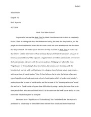 Jelani Butler FInal Essay BT