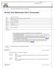 Review Test Submission: Unit V Assessment – BEM 3101-14I...