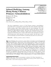 Wong D. W._et_al_School bullying among Hong Kong Chinese primary school children_2008.pdf