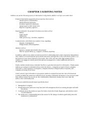 ACCT 4314 Ch 3 Study Notes