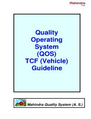 Quality Operating System - TCF Guideline