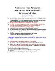 Americas Sous Chef, March 11, 2016
