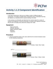 Component Identification Notes