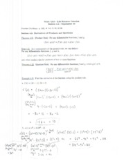 Math 1215 Lecture Notes September 30