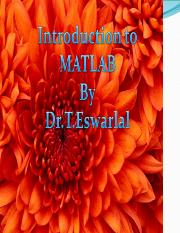 MATLAB INTRODUCTION  2